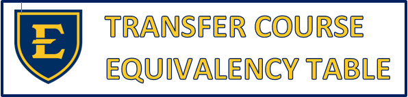Transfer Course Equivalency Table