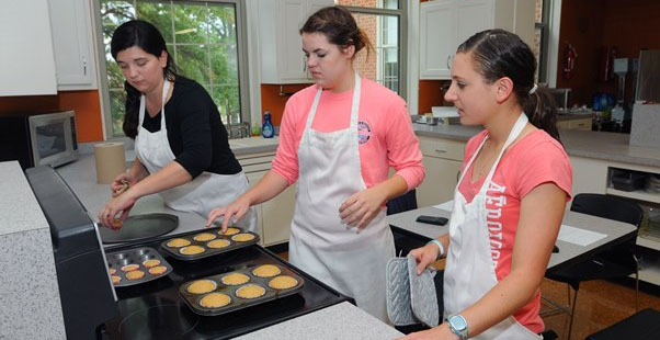 students baking