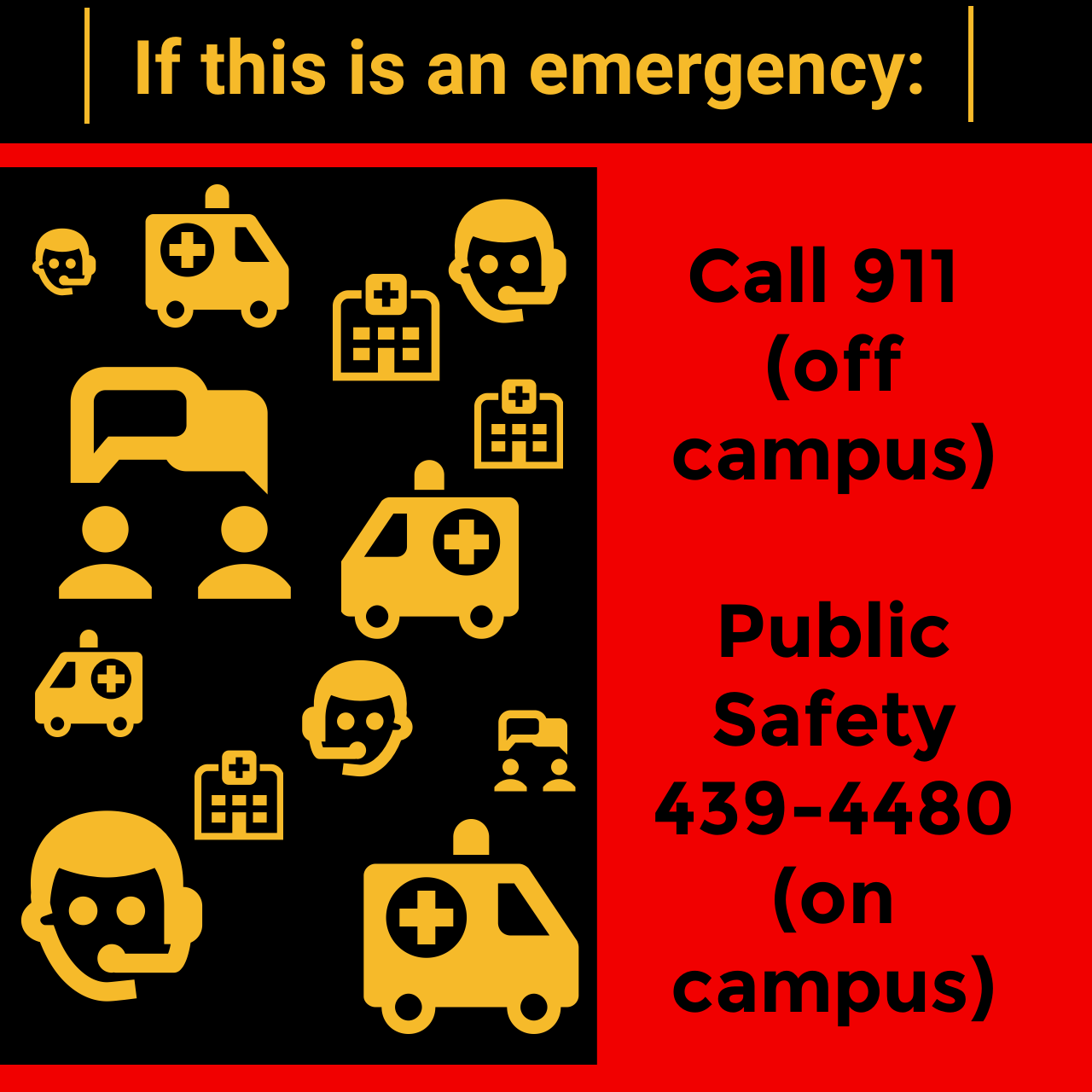Emergency Contact Information, Pulbic safety and 911.